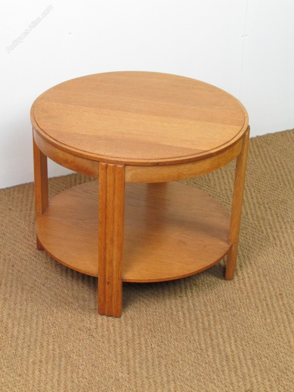 Art deco oak coffee side table antiques atlas Coffee table antique