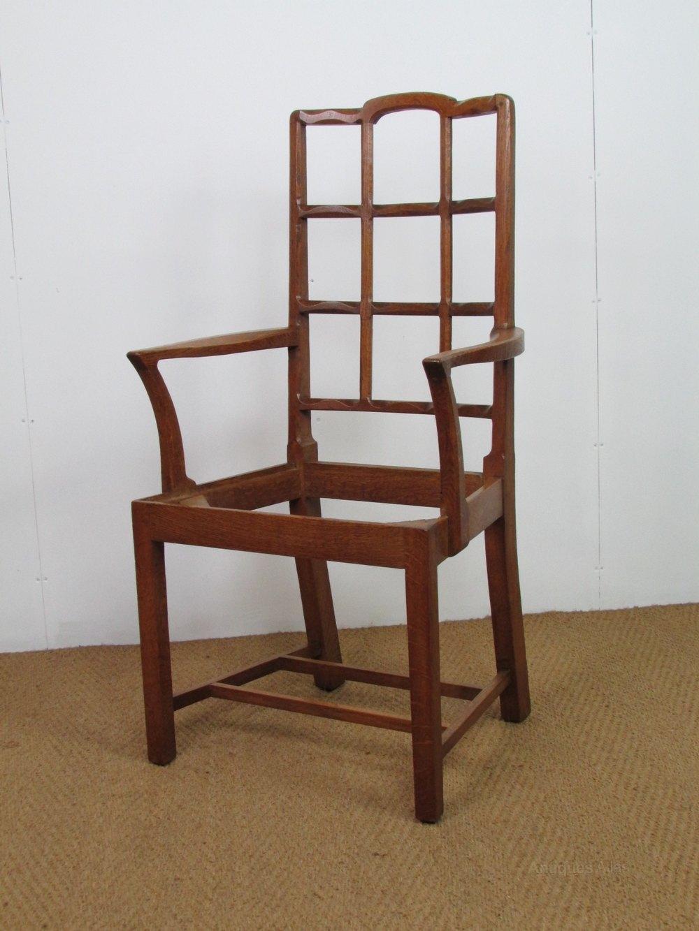 Arts & Crafts Cotswold School Oak Armchair - Antiques Atlas