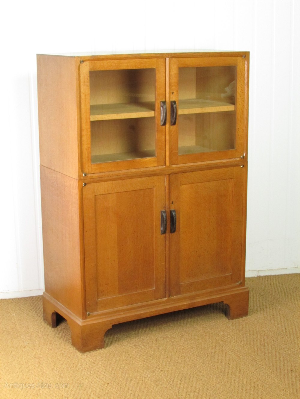 School Wooden Cabinets ~ Arts crafts cotswold school oak bookcase cabinet