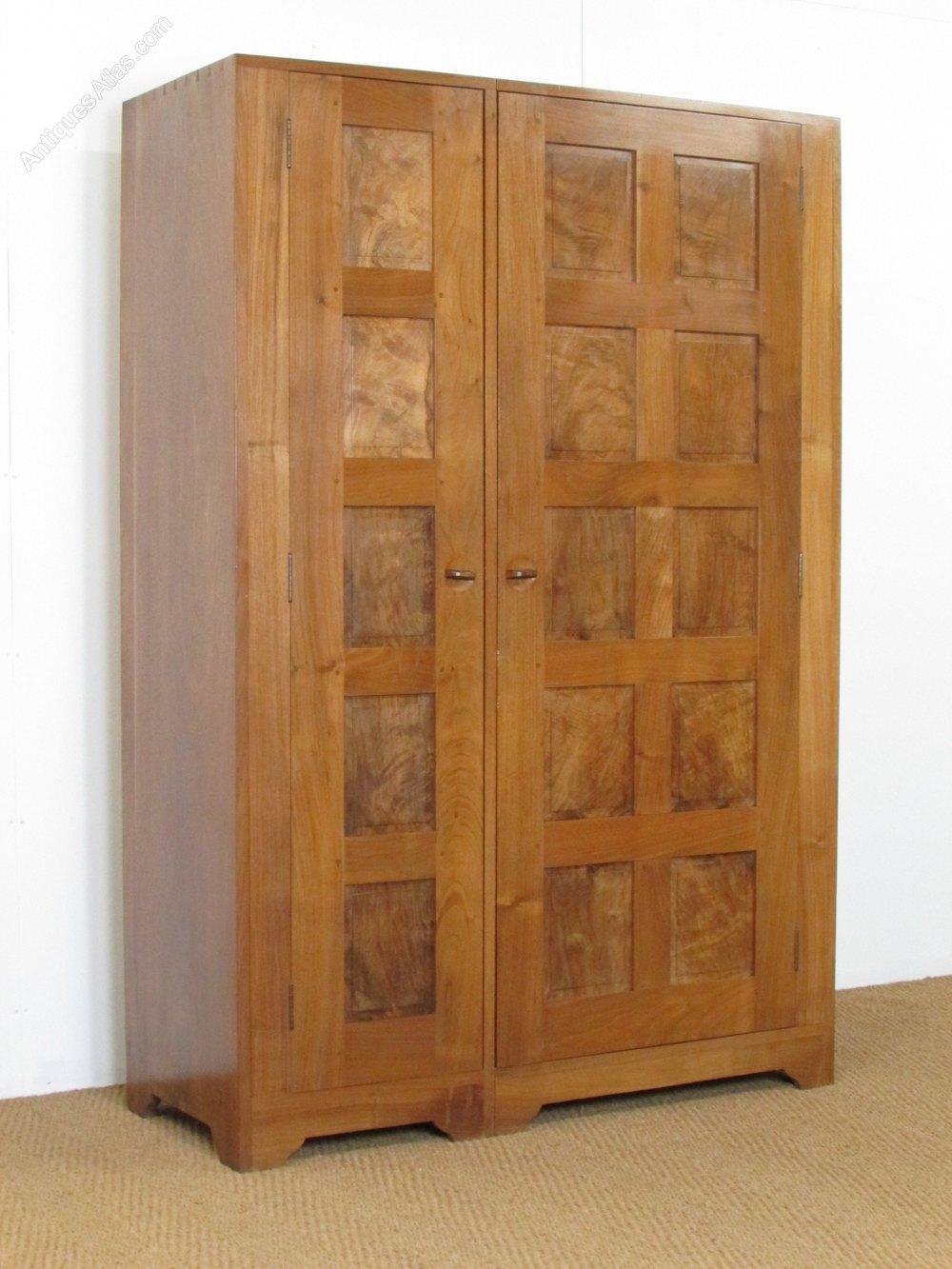 vintage antique furniture wardrobe walnut armoire. Cotswold School Walnut Wardrobe Vintage Wardrobes Antique Furniture Armoire N