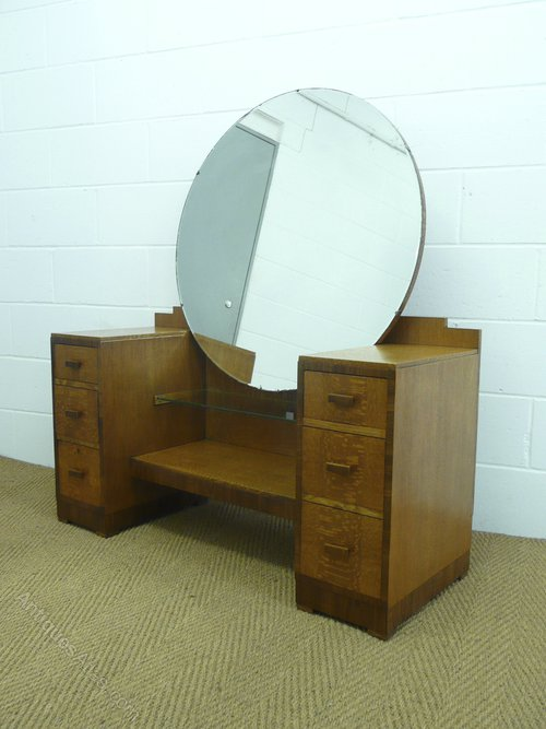 Heals art deco silky oak dressing table stool antique dressing tables