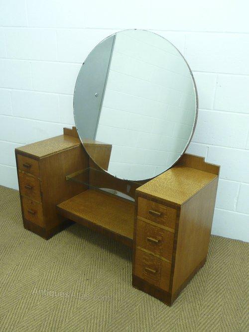 Heals Art Deco Silky Oak Dressing Table Stool