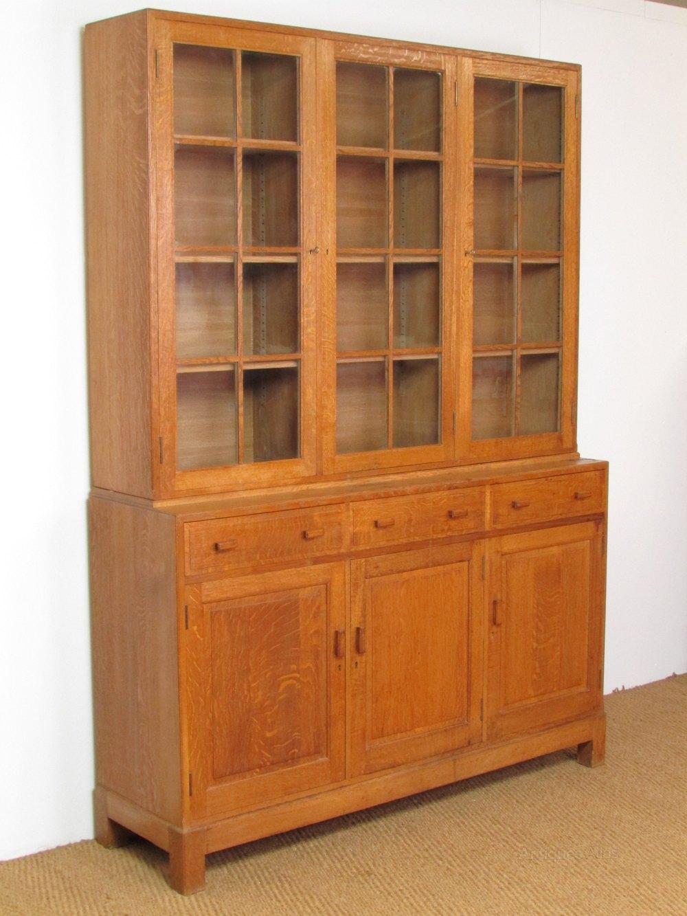 Heal S Library Oak Bookcase Antiques Atlas