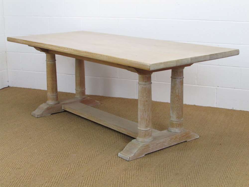 Heals Limed Oak 7 Tilden Dining Table
