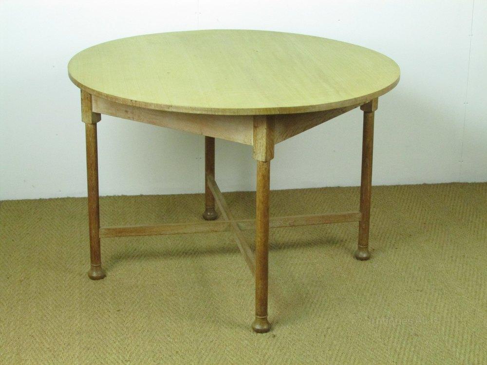 Heal 39 S Limed Oak Circular Dining Breakfast Table Antiques Atlas