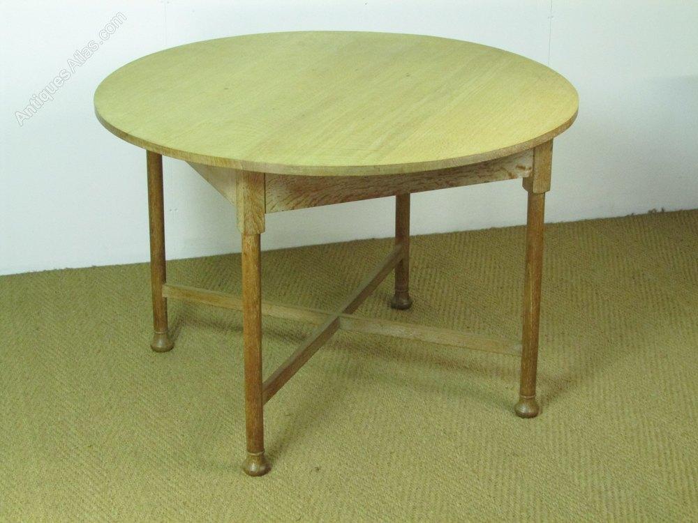 Heals Limed Oak Circular Dining Breakfast Table
