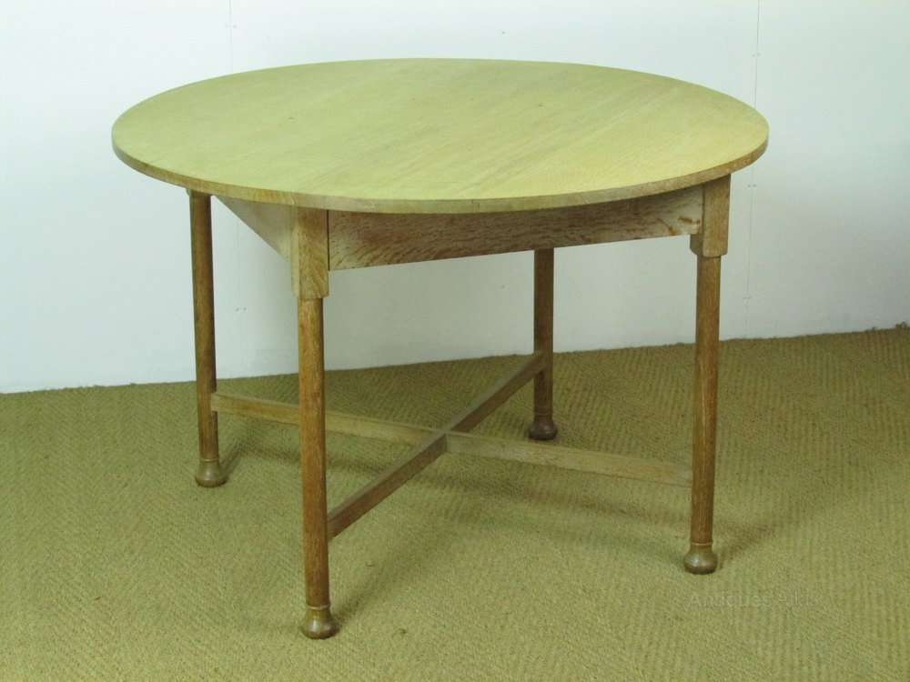 Heal 39 s limed oak circular dining breakfast table antiques atlas - Heals dining table ...