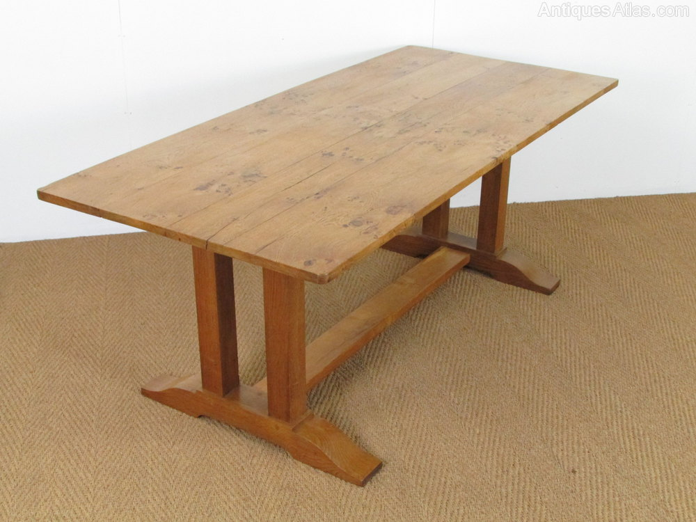 Heal 39 s arts crafts refectory dining table antiques atlas - Heals dining table ...