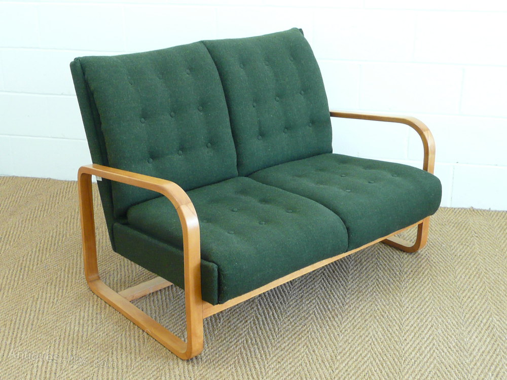 Modernist Armchair & Settee - Antiques Atlas