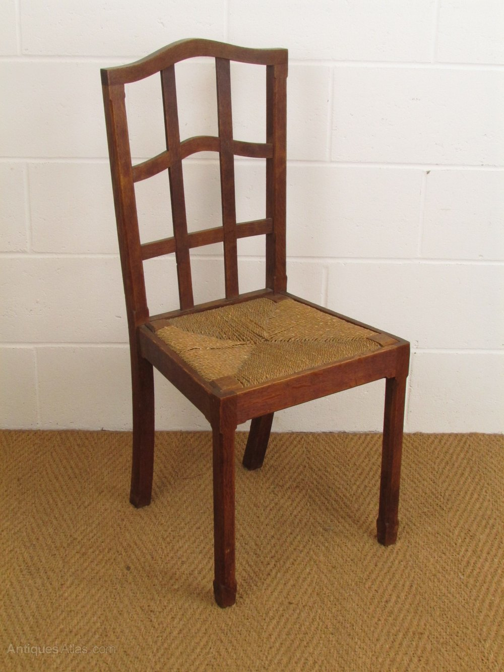 Set Of 6 Cotswold Style Oak Brynmawr Dining Chairs Antique