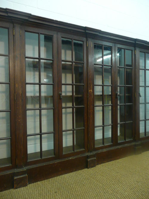 Substantial Shapland Petter Oak Library Bookcase