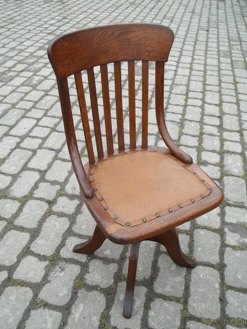Incredible Antique Oak Swivel Desk Chair Antiques Atlas Gmtry Best Dining Table And Chair Ideas Images Gmtryco