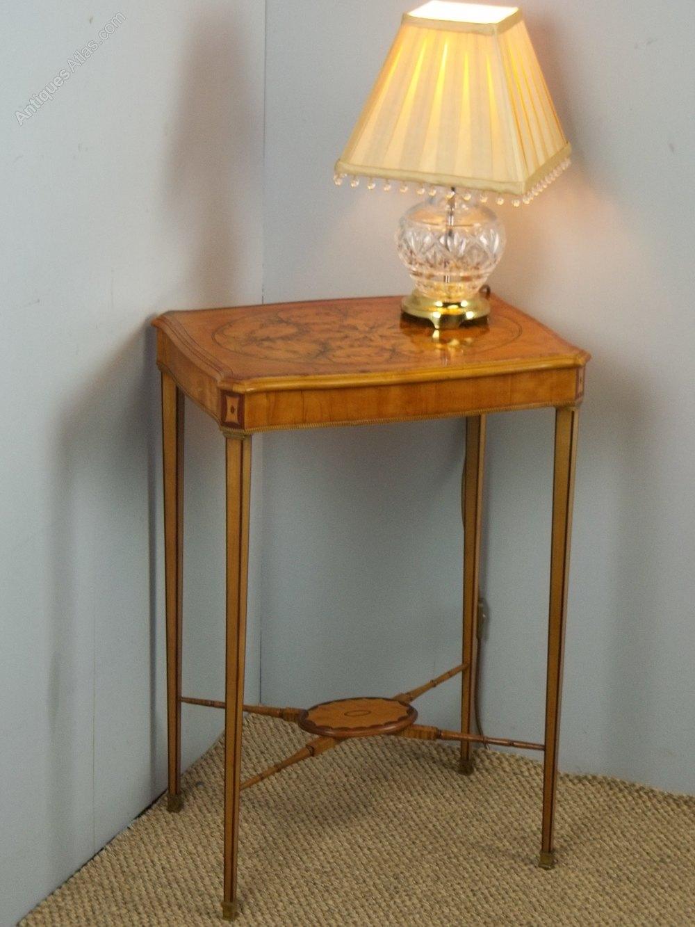 Antique Regency Satinwood Lamp Table Antiques Atlas