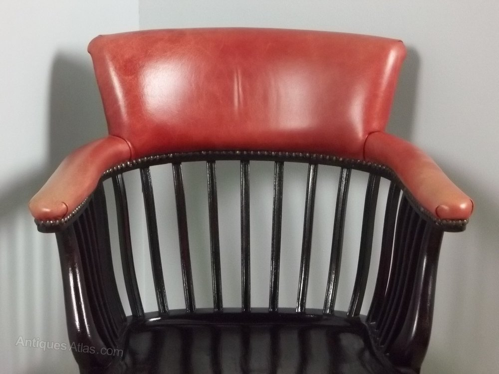 Captains swivel office desk arm chair antiques atlas