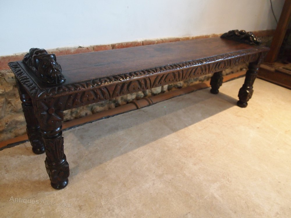 Bench Settle Pew Window Seat Victorian Oak C1880 Antiques Atlas