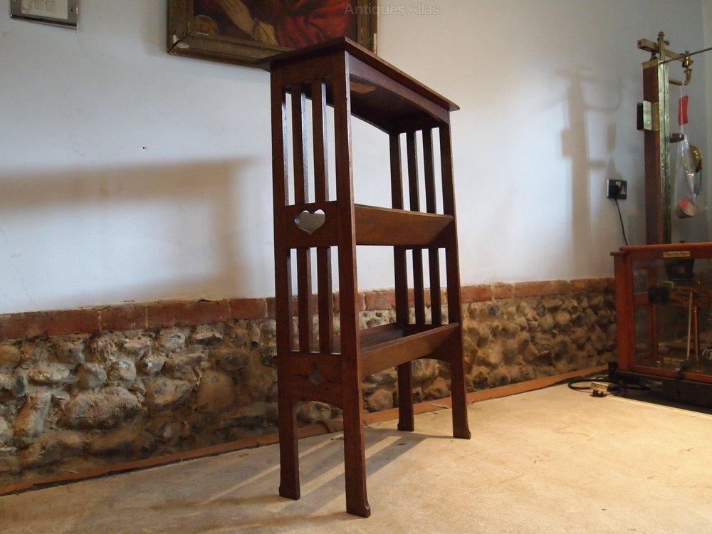 bookcase arts and crafts oak c1900 antiques atlas. Black Bedroom Furniture Sets. Home Design Ideas