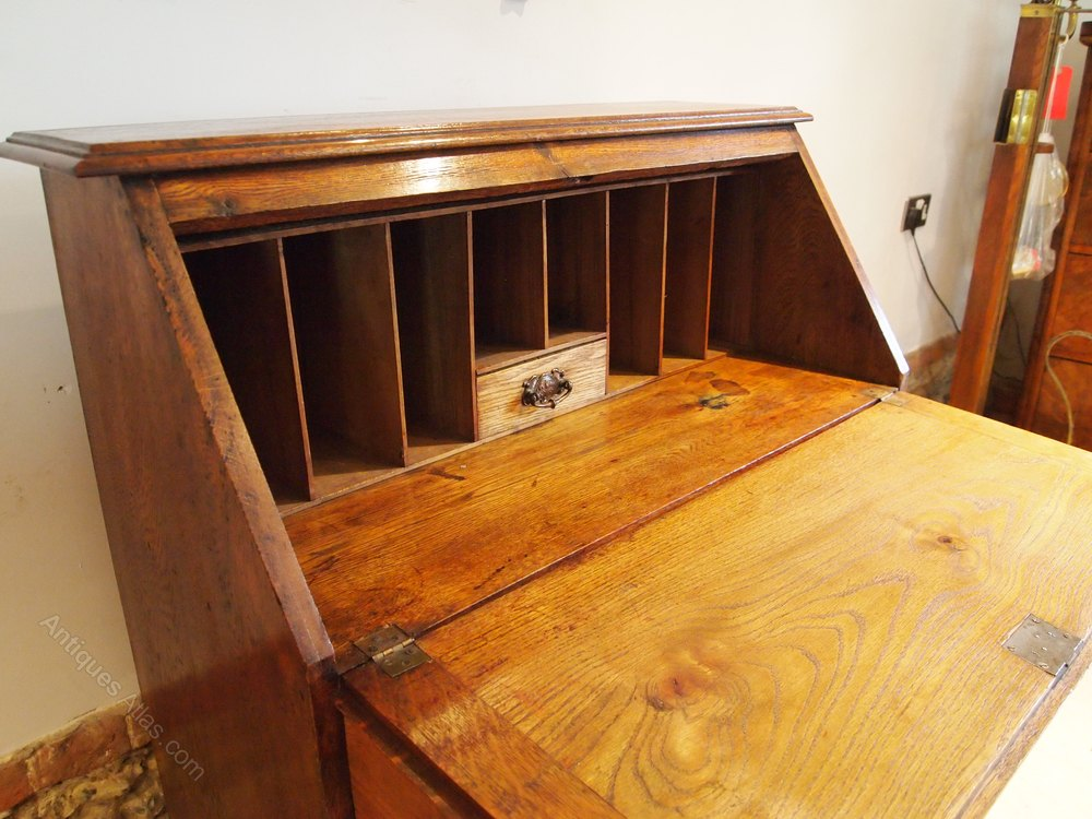 Bureau Desk Arts And Crafts Oak C1900