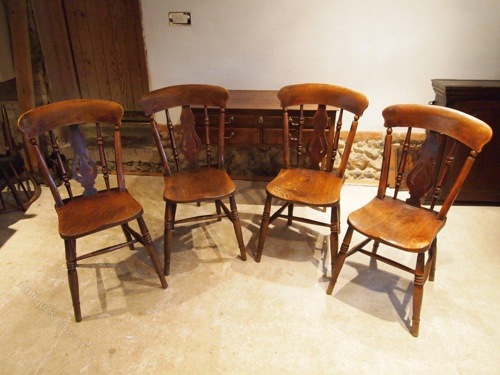 chairs 4 victorian windsor fiddle back elm c1880 antiques atlas. Black Bedroom Furniture Sets. Home Design Ideas
