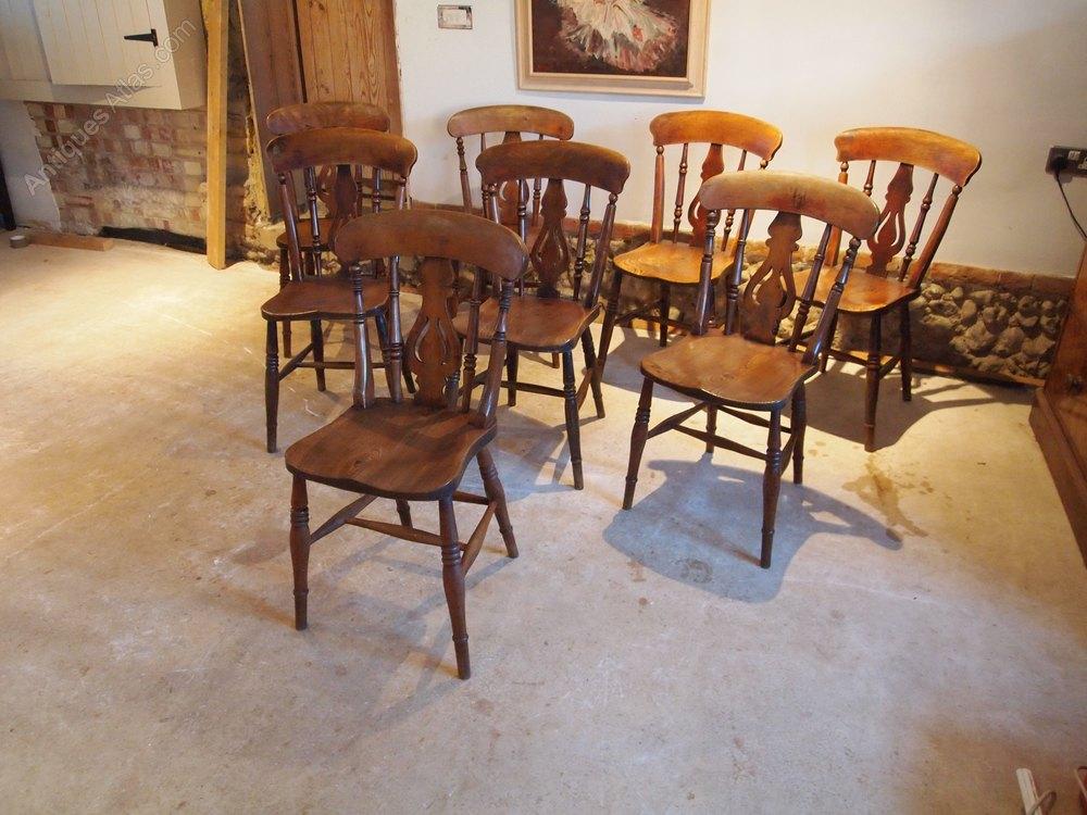 chairs 8 victorian fiddle back windsor elm c1880 antiques atlas. Black Bedroom Furniture Sets. Home Design Ideas