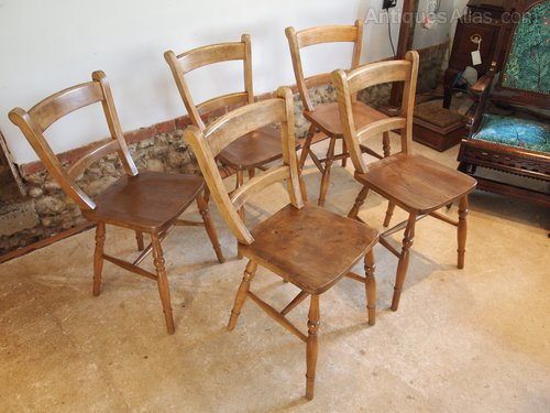 Chairs Set Of 5 Victorian East Anglian Windsor Part 49