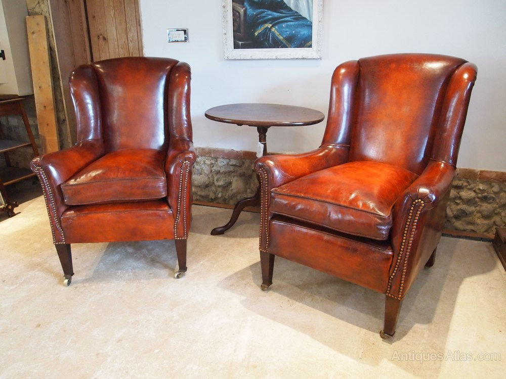 chairs stunning pair of george iii wing armchairs antiques atlas. Black Bedroom Furniture Sets. Home Design Ideas
