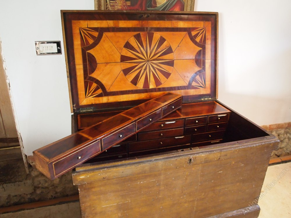 Chest Rare George Iii Cabinet Makers Tool Chest Antiques