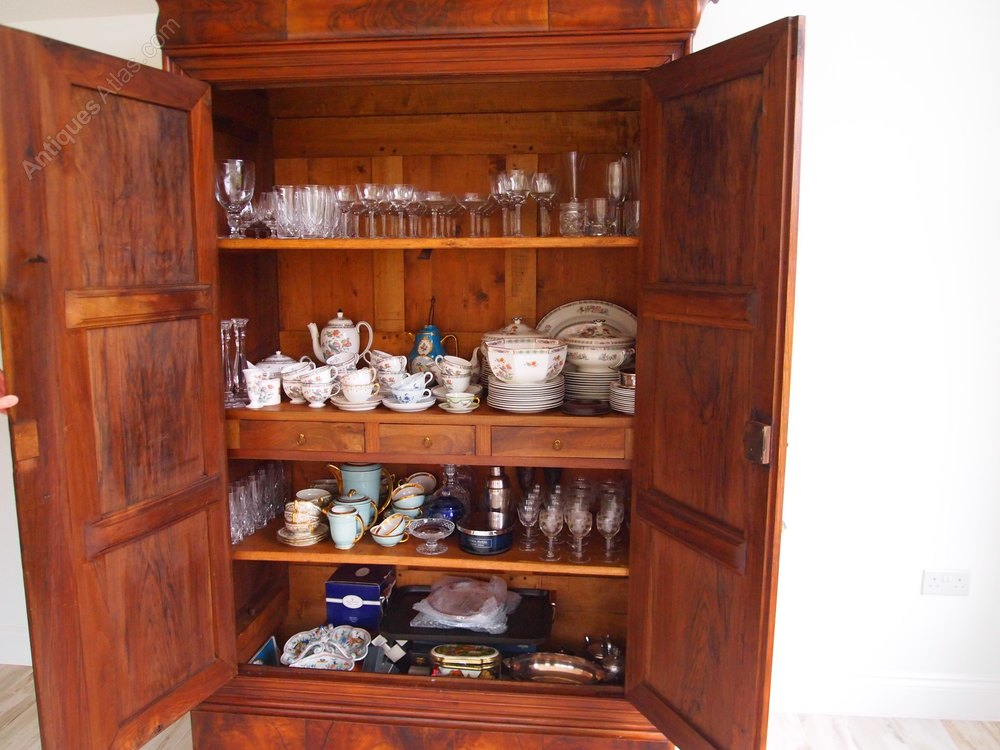cupboard armoire french walnut and cherry 6 parts antiques atlas. Black Bedroom Furniture Sets. Home Design Ideas