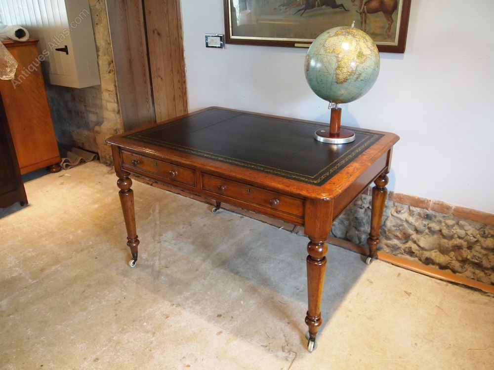 Desk Victorian Oak Small Partners C1870