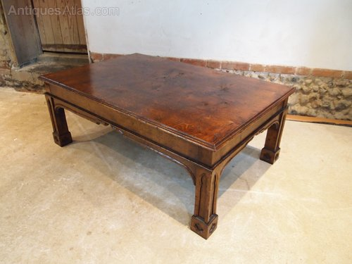 Table Coffee Table Arts And Crafts Gothic Oak 1930 Antiques Atlas