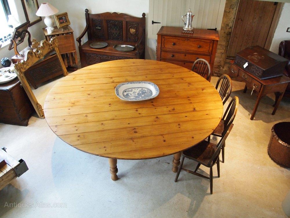 table large edwardian pine collapsible dining antiques atlas. Black Bedroom Furniture Sets. Home Design Ideas
