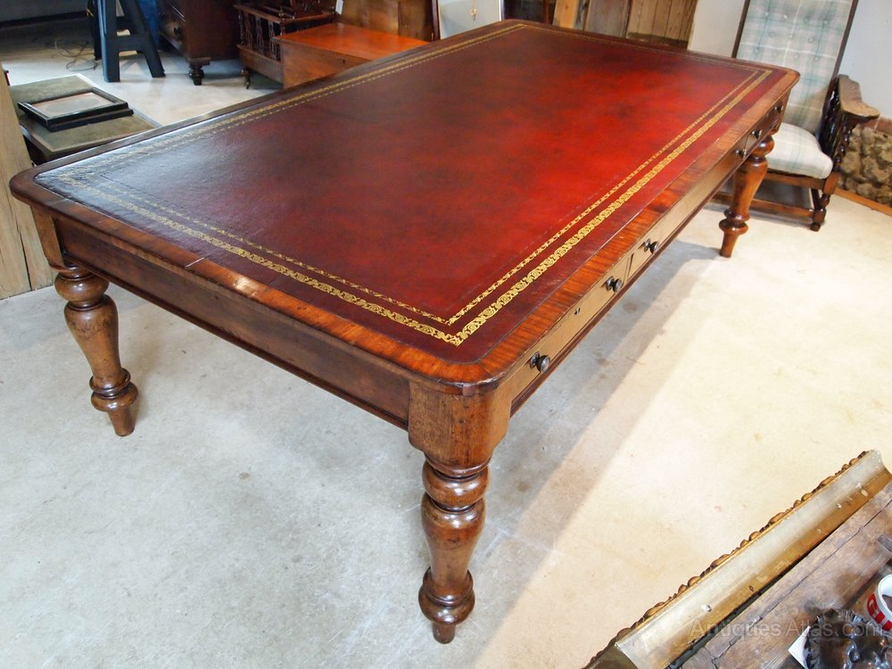 Table library desk boardroom George IV Mahogany Antique ... - Table Library Desk Boardroom George IV Mahogany - Antiques Atlas