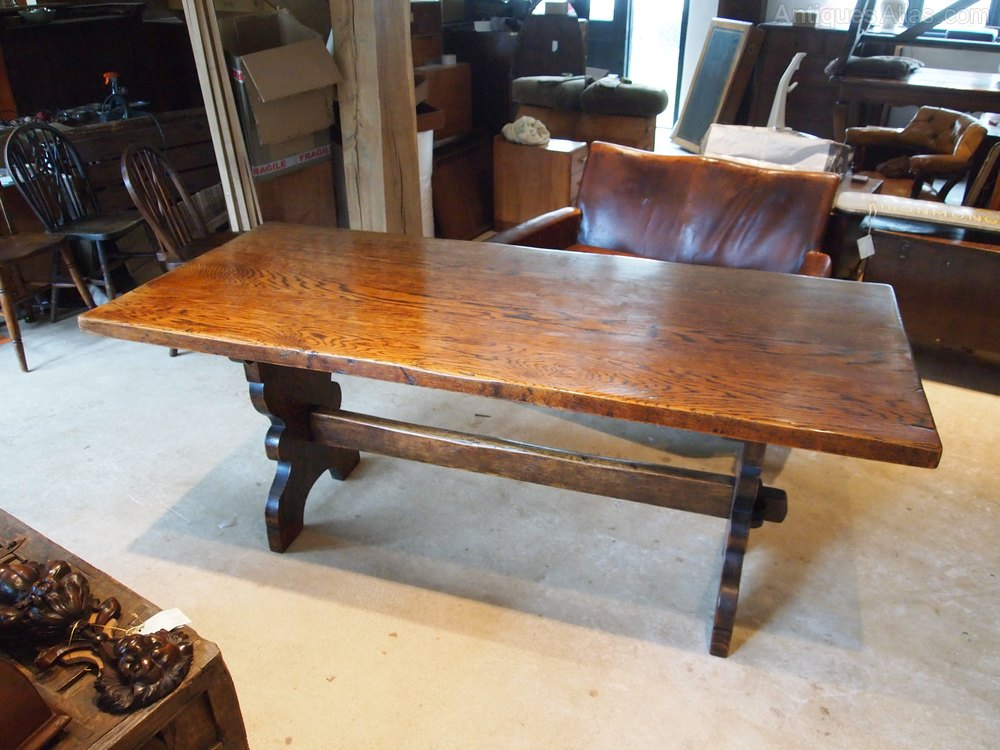 Table Refectory Farmhouse Dining Table Oak C1920 Antiques Atlas