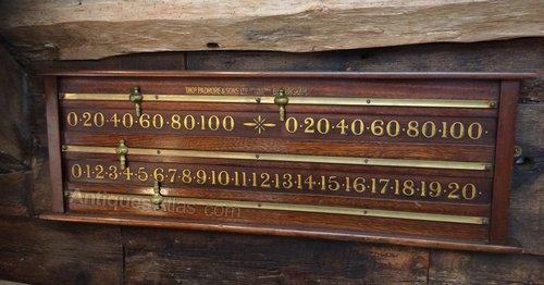 Antiques Atlas - Padmore Antique Mahogany Snooker Scoreboard