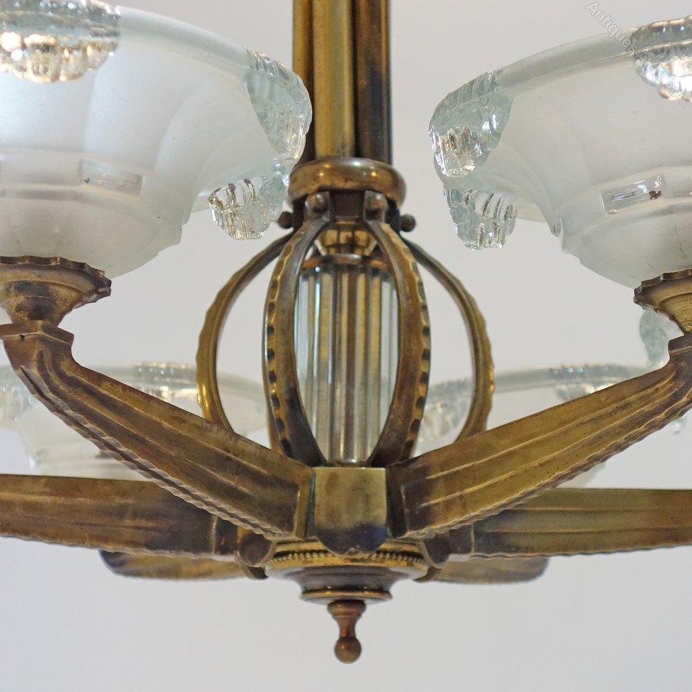 Art deco chandelier great beardslee art deco chandelier for sale finest antique lighting antique basket chandeliers art deco chandelier alt alt with art deco chandelier arubaitofo Gallery