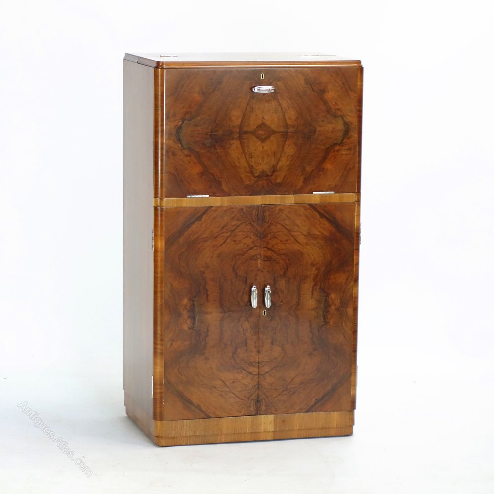 Beau Art Deco Cocktail Cabinet By Maple And Co 1930s ...