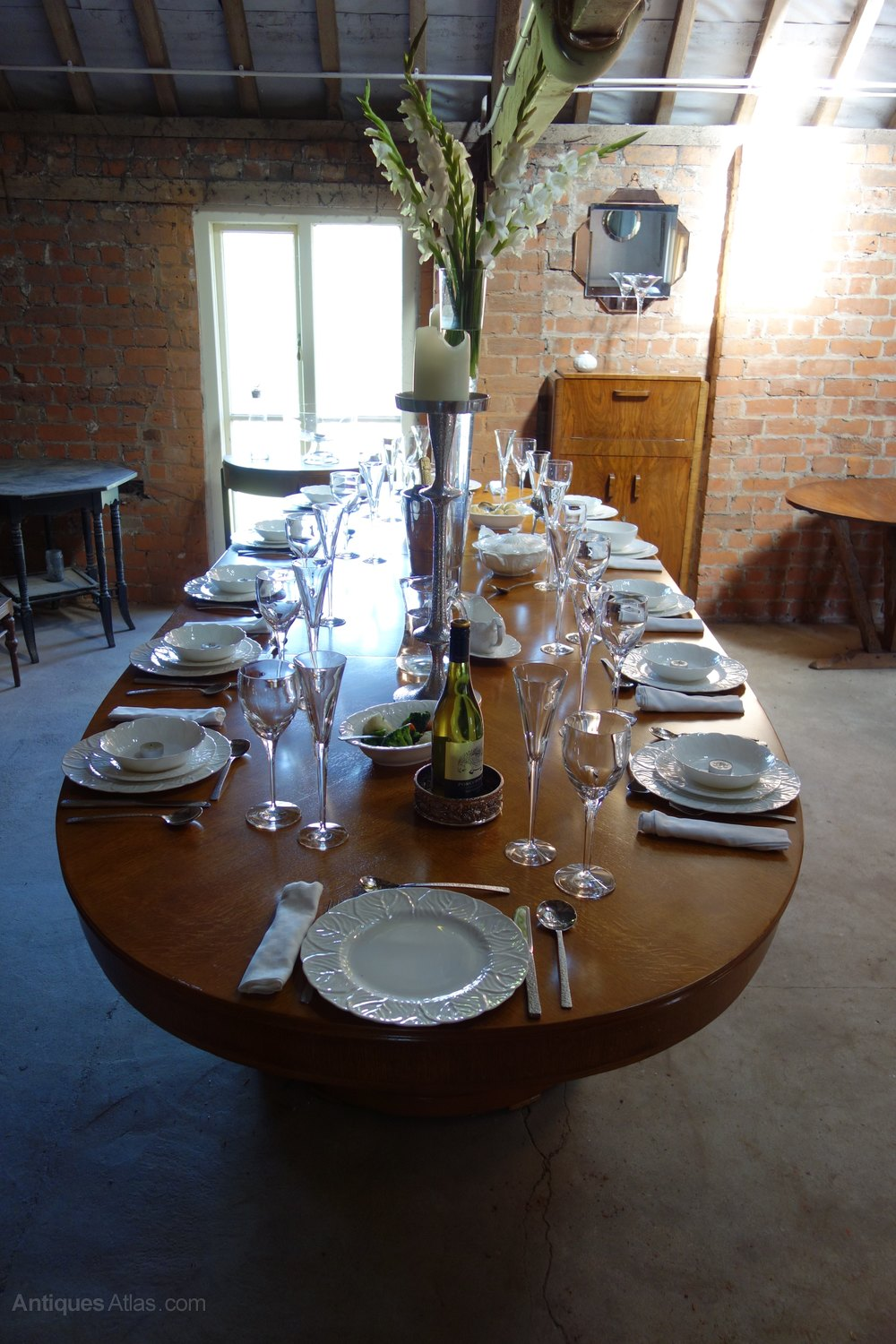 Art Deco Dining Boardroom Table Waring And Gillow