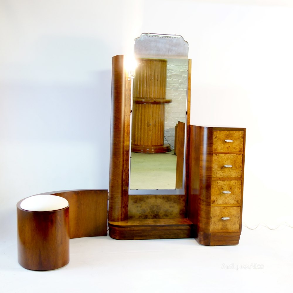 Art deco dressing table with swing stool c1930 antiques atlas - Deco dressing ...