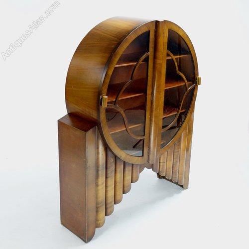 Art Deco Round Rocket Display Cabinet 1930 S Antiques Atlas