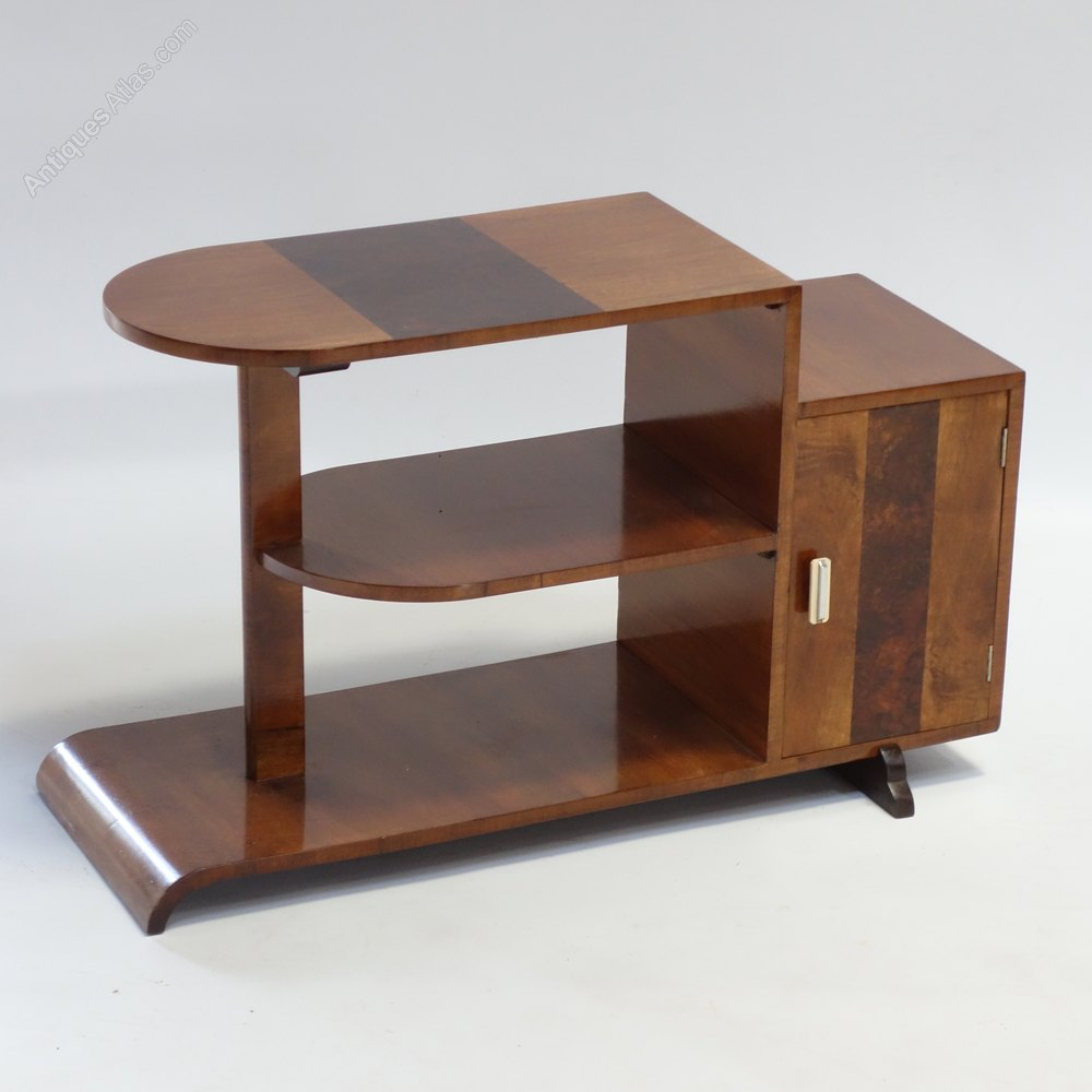 art deco walnut table display english 1930s antiques atlas. Black Bedroom Furniture Sets. Home Design Ideas
