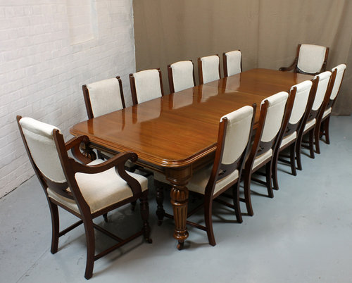 dining room table 12 seater | 12 Seater Exctending Dining Table C.1860. - Antiques Atlas