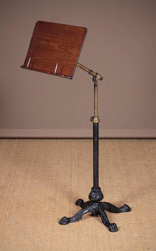 Adjustable Music Stand : 19th c adjustable reading or music stand antiques atlas ~ Hamham.info Haus und Dekorationen