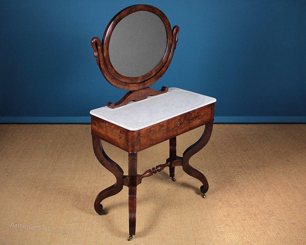 Biedermeier Style Dressing Table Wash Stand C 1830