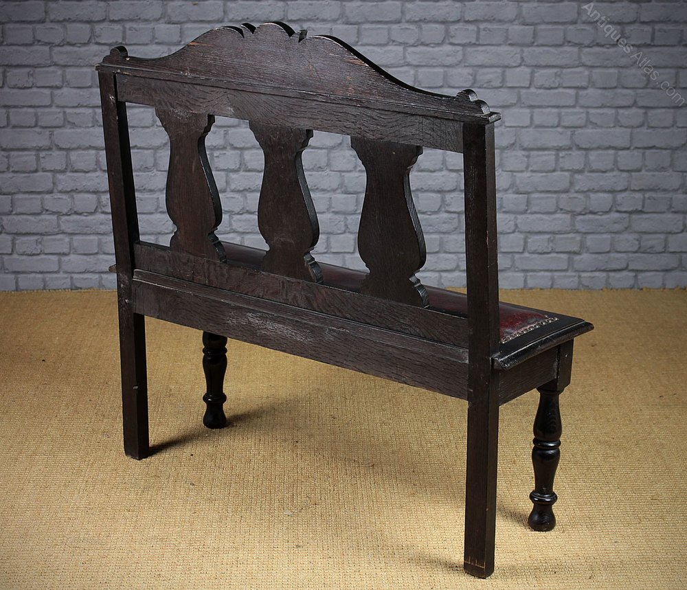 Small Carved Oak Hall Seat C 1880 Antiques Atlas
