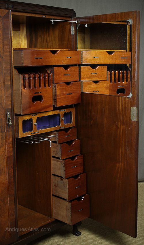 20th c  gentleman u2019s compactum wardrobe c 1920