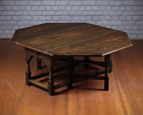 Low Oak Gateleg Coffee Table C 1930 Antiques Atlas