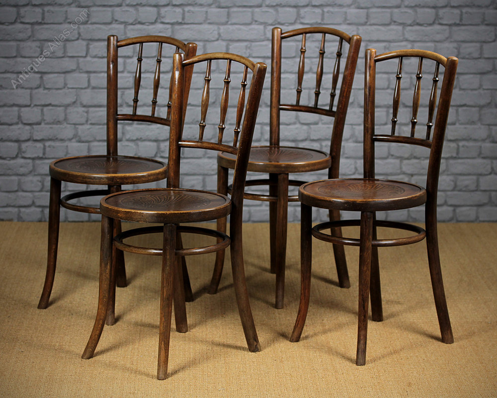 4 Bentwood Cafe Chairs C.1930.