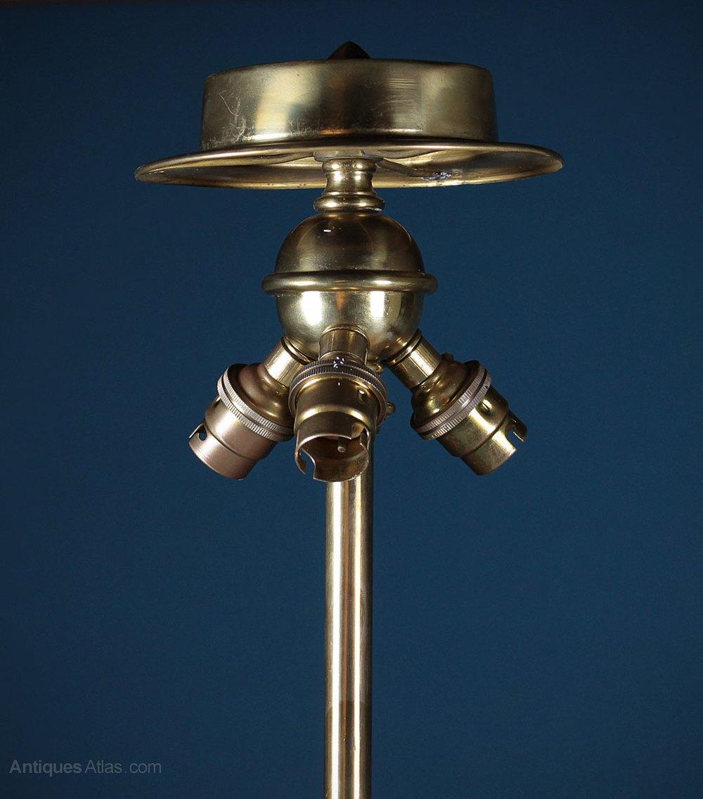 Antiques Atlas Adam Style Brass Standard Lamp C 1920