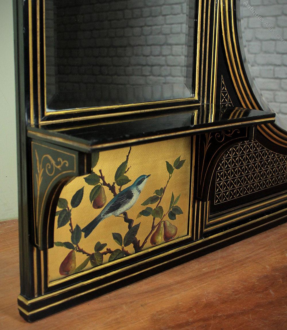 Antiques Atlas Aesthetic Movement Overmantle Mirror