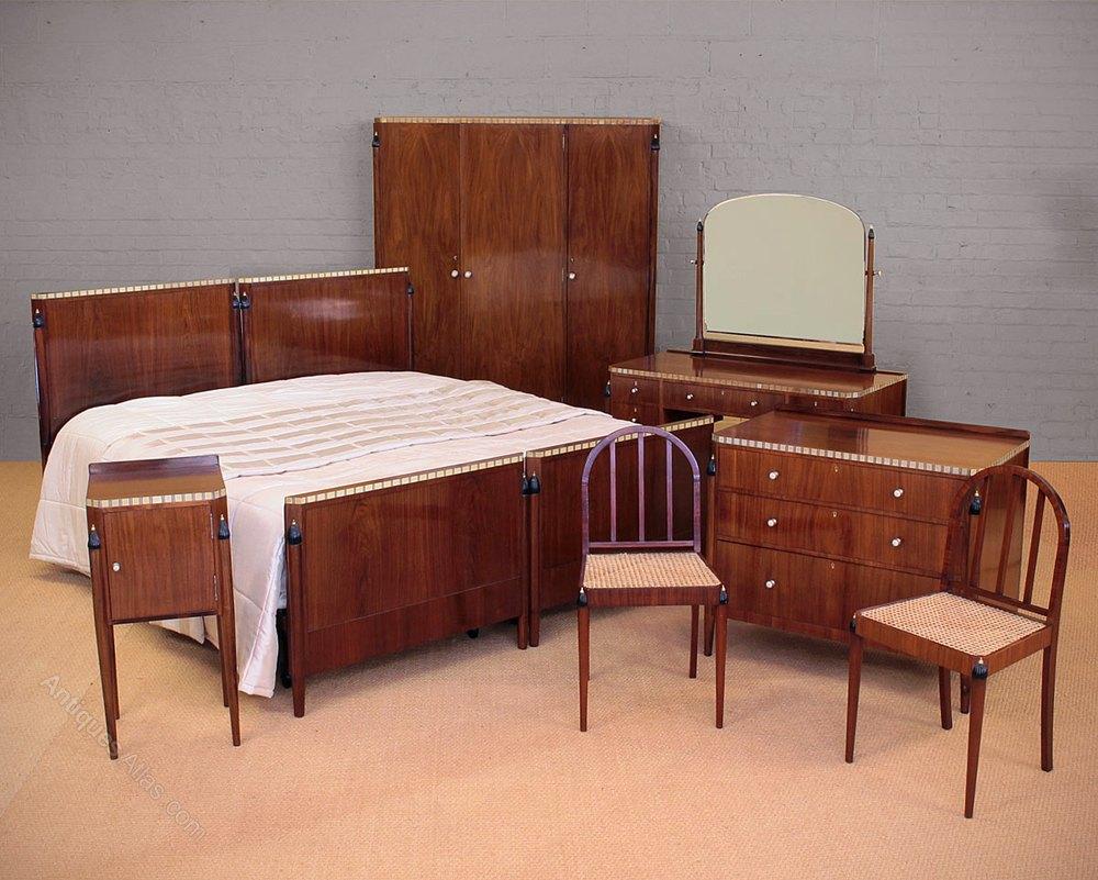 Art Deco Bedroom Suite C 1930 Antiques Atlas