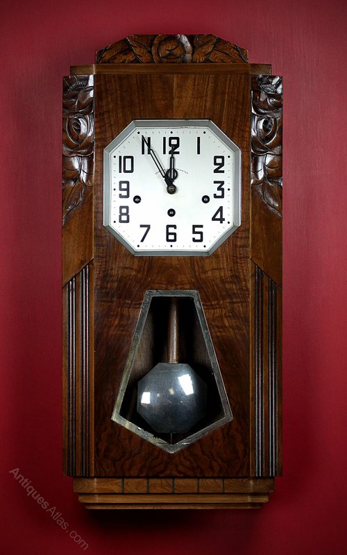 Art Deco Wall Clock C.1930.